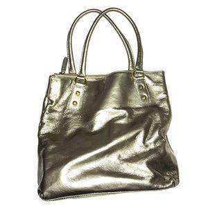 J. Crew Silver Tote Bag